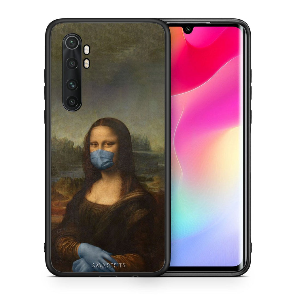 Θήκη Xiaomi Mi Note 10 Lite Lisa Corona από τη Smartfits με σχέδιο στο πίσω μέρος και μαύρο περίβλημα | Xiaomi Mi Note 10 Lite Lisa Corona case with colorful back and black bezels