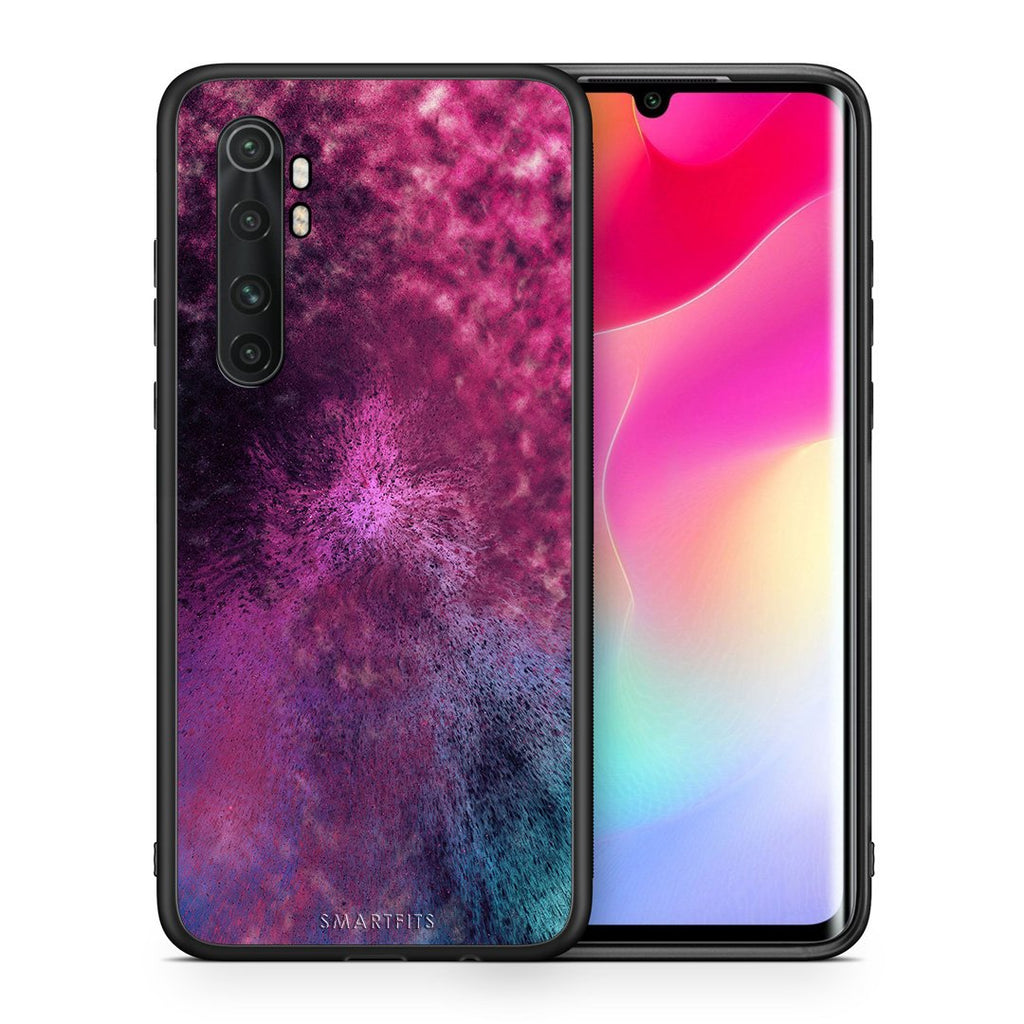 Θήκη Xiaomi Mi Note 10 Lite Aurora Galaxy από τη Smartfits με σχέδιο στο πίσω μέρος και μαύρο περίβλημα | Xiaomi Mi Note 10 Lite Aurora Galaxy case with colorful back and black bezels