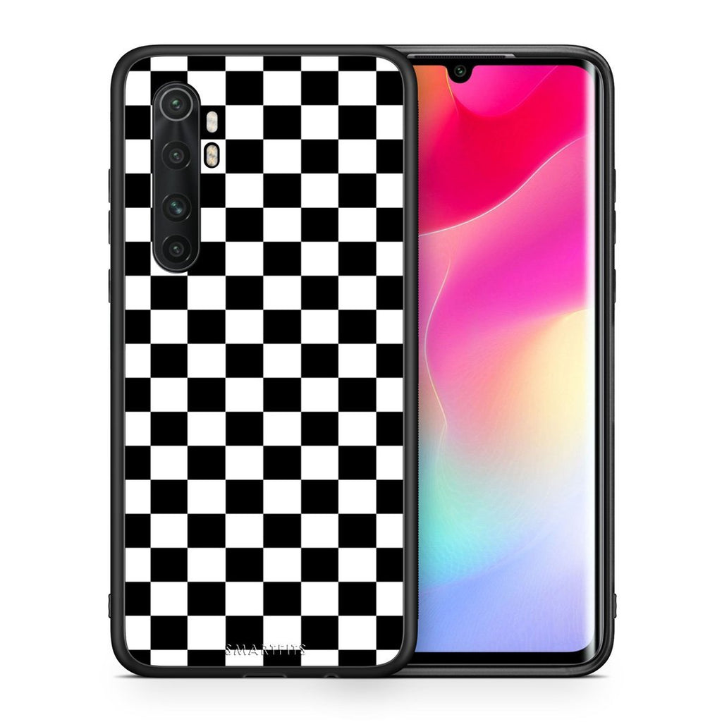 Θήκη Xiaomi Mi Note 10 Lite Squares Geometric από τη Smartfits με σχέδιο στο πίσω μέρος και μαύρο περίβλημα | Xiaomi Mi Note 10 Lite Squares Geometric case with colorful back and black bezels