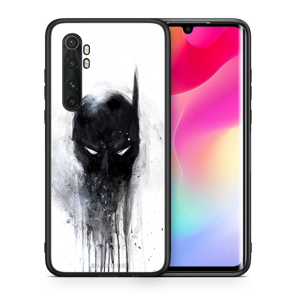 Θήκη Xiaomi Mi Note 10 Lite Paint Bat Hero από τη Smartfits με σχέδιο στο πίσω μέρος και μαύρο περίβλημα | Xiaomi Mi Note 10 Lite Paint Bat Hero case with colorful back and black bezels
