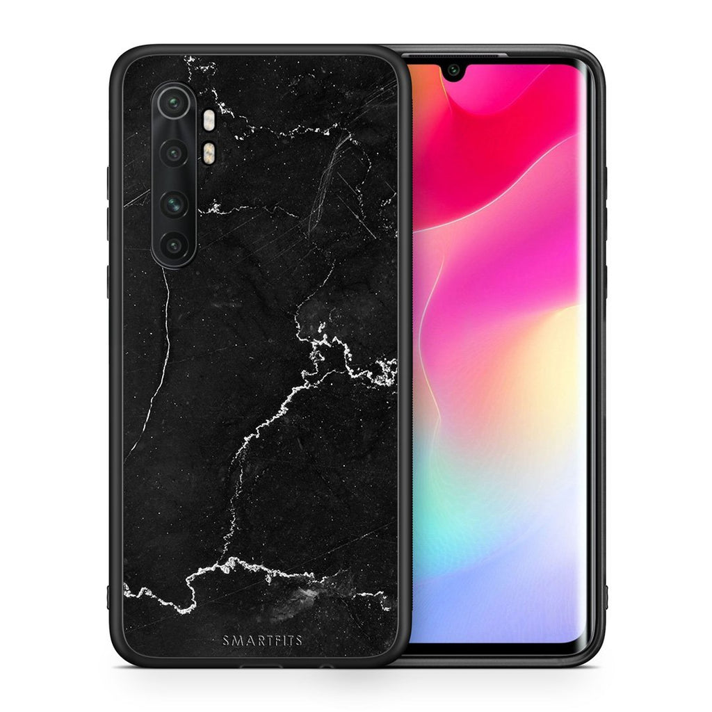 Θήκη Xiaomi Mi Note 10 Lite Black Marble από τη Smartfits με σχέδιο στο πίσω μέρος και μαύρο περίβλημα | Xiaomi Mi Note 10 Lite Black Marble case with colorful back and black bezels