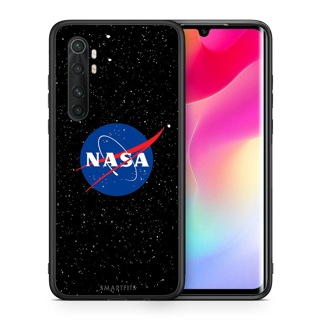 Θήκη Xiaomi Mi Note 10 Lite NASA PopArt από τη Smartfits με σχέδιο στο πίσω μέρος και μαύρο περίβλημα | Xiaomi Mi Note 10 Lite NASA PopArt case with colorful back and black bezels