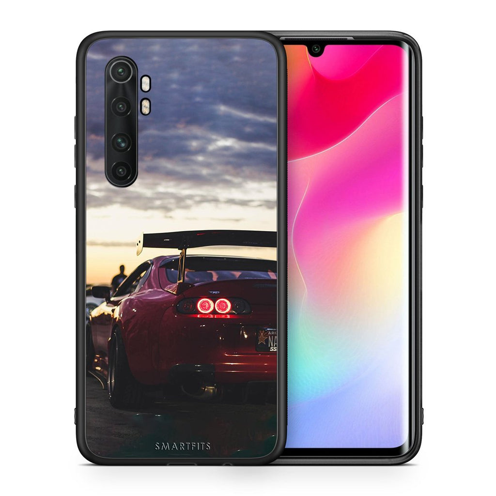 Θήκη Xiaomi Mi Note 10 Lite Supra Racing από τη Smartfits με σχέδιο στο πίσω μέρος και μαύρο περίβλημα | Xiaomi Mi Note 10 Lite Supra Racing case with colorful back and black bezels