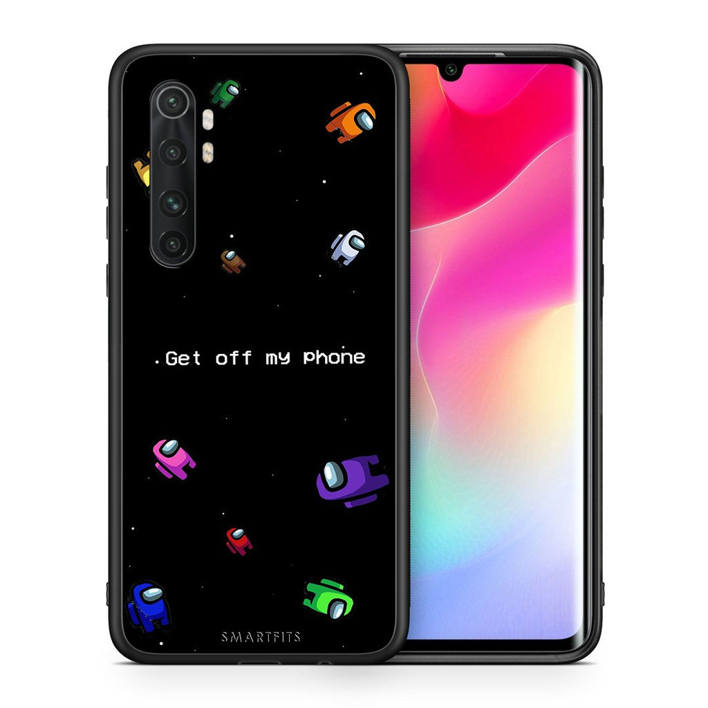 Θήκη Xiaomi Mi Note 10 Lite AFK Text από τη Smartfits με σχέδιο στο πίσω μέρος και μαύρο περίβλημα | Xiaomi Mi Note 10 Lite AFK Text case with colorful back and black bezels