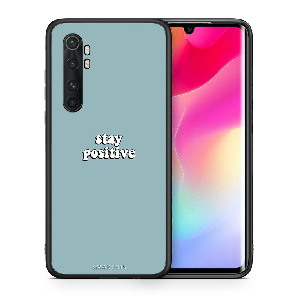 Θήκη Xiaomi Mi Note 10 Lite Positive Text από τη Smartfits με σχέδιο στο πίσω μέρος και μαύρο περίβλημα | Xiaomi Mi Note 10 Lite Positive Text case with colorful back and black bezels