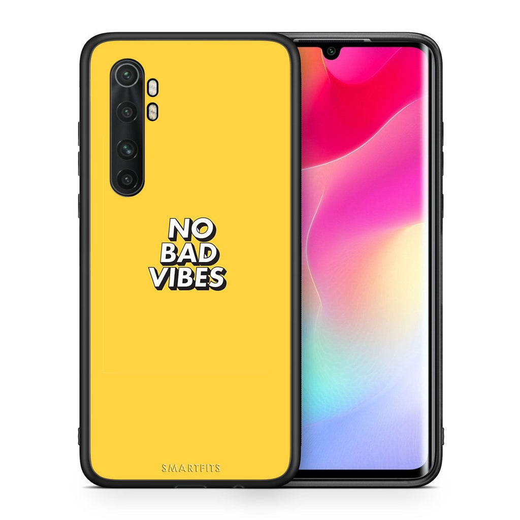 Θήκη Xiaomi Mi Note 10 Lite Vibes Text από τη Smartfits με σχέδιο στο πίσω μέρος και μαύρο περίβλημα | Xiaomi Mi Note 10 Lite Vibes Text case with colorful back and black bezels