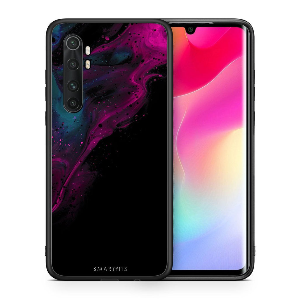 Θήκη Xiaomi Mi Note 10 Lite Pink Black Watercolor από τη Smartfits με σχέδιο στο πίσω μέρος και μαύρο περίβλημα | Xiaomi Mi Note 10 Lite Pink Black Watercolor case with colorful back and black bezels