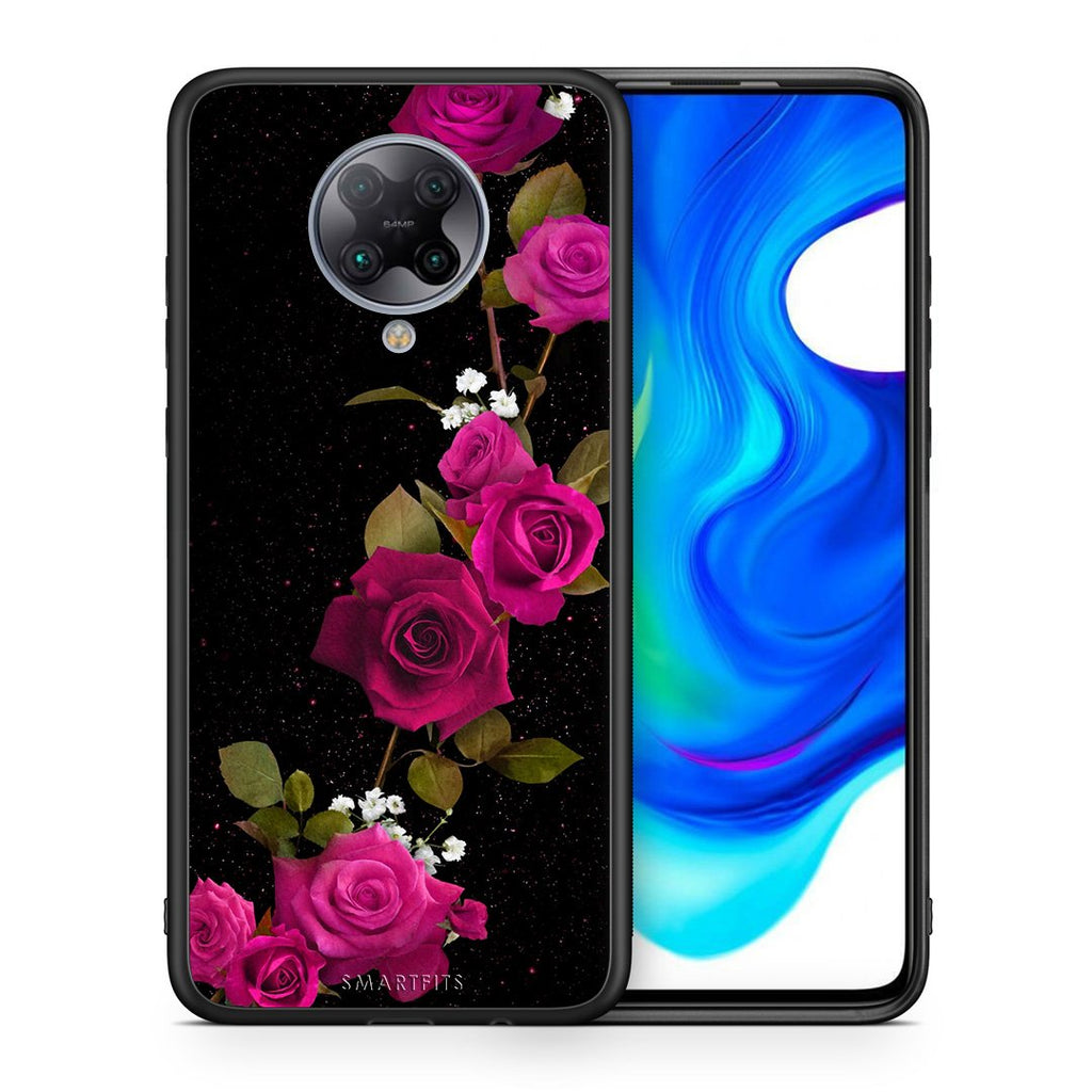 4 - Xiaomi Poco F2 Pro Red Roses Flower case, cover, bumper