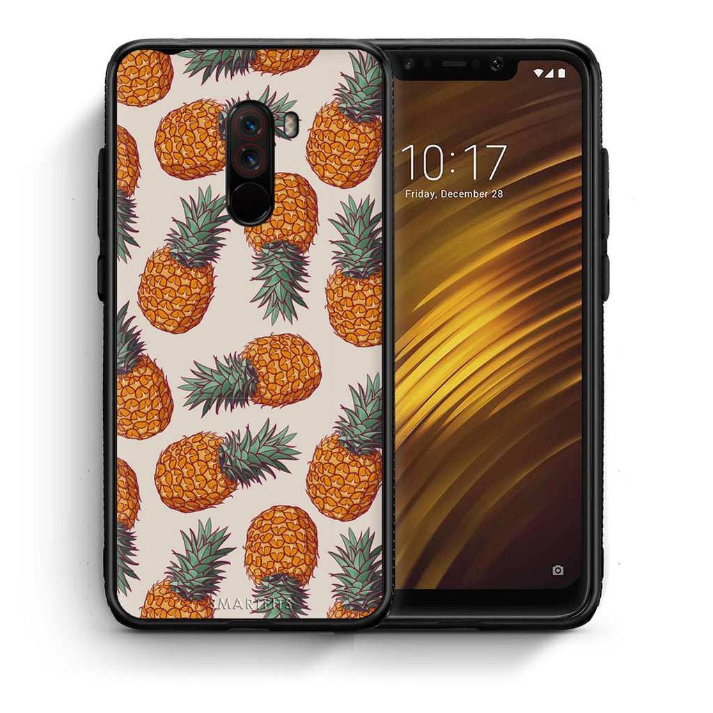 99 - Xiaomi Pocophone F1  Summer Real Pineapples case, cover, bumper