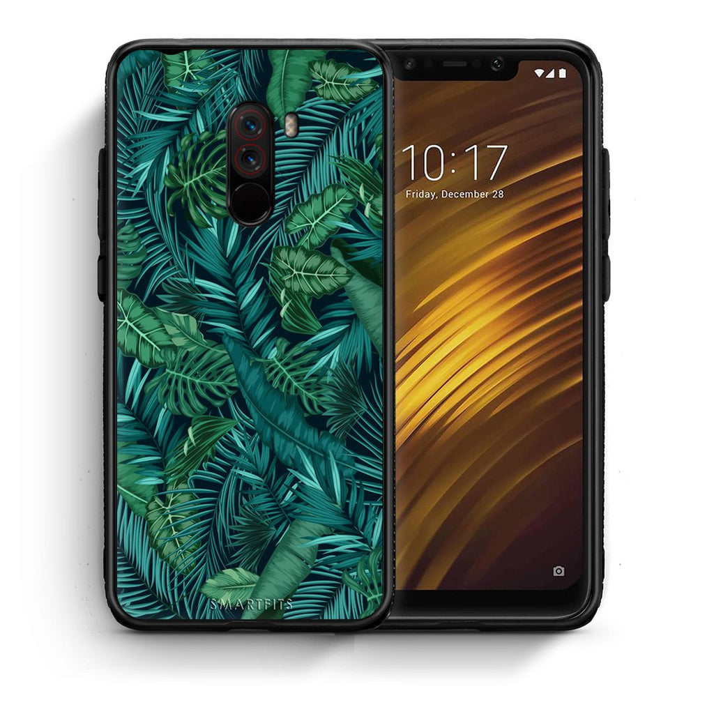 99 - Xiaomi Pocophone F1  Tropic Leaves case, cover, bumper