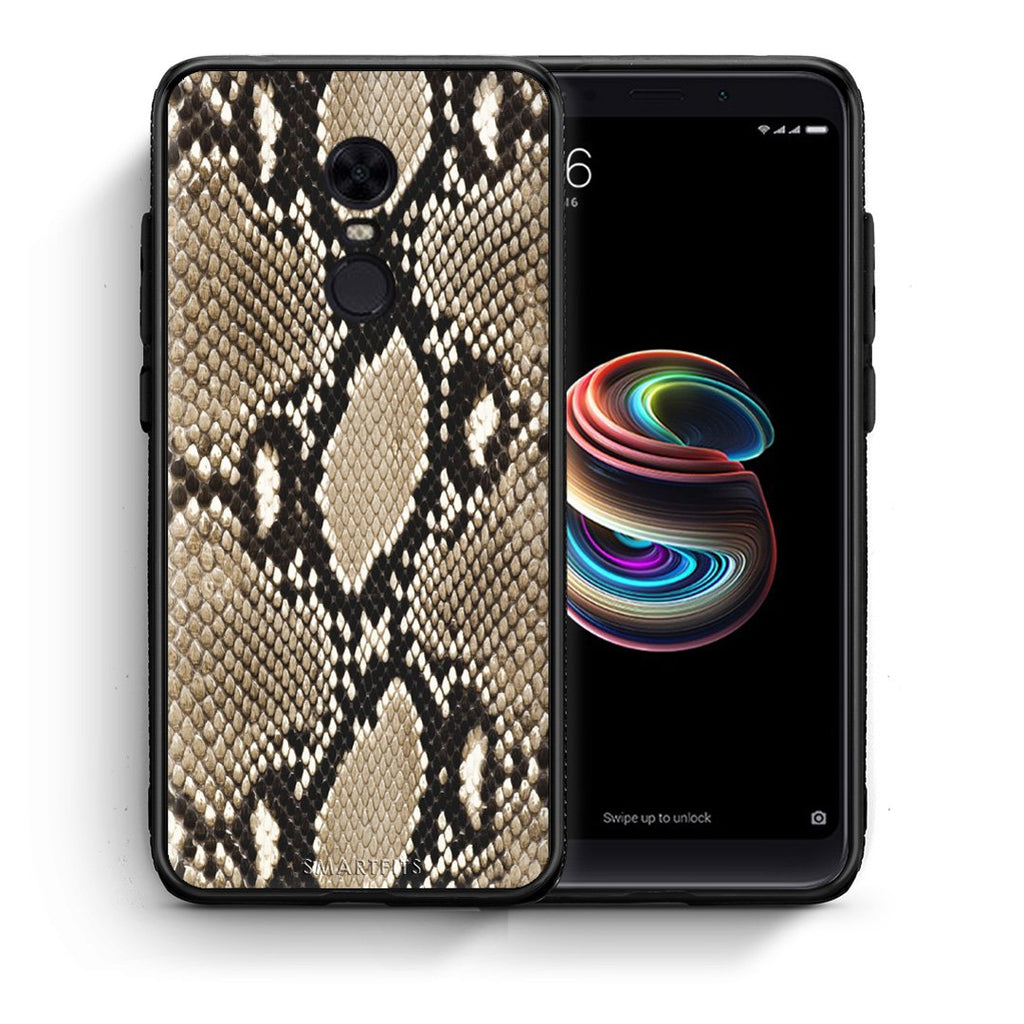 23 - Xiaomi Redmi 5 Plus  Fashion Snake Animal case, cover, bumper