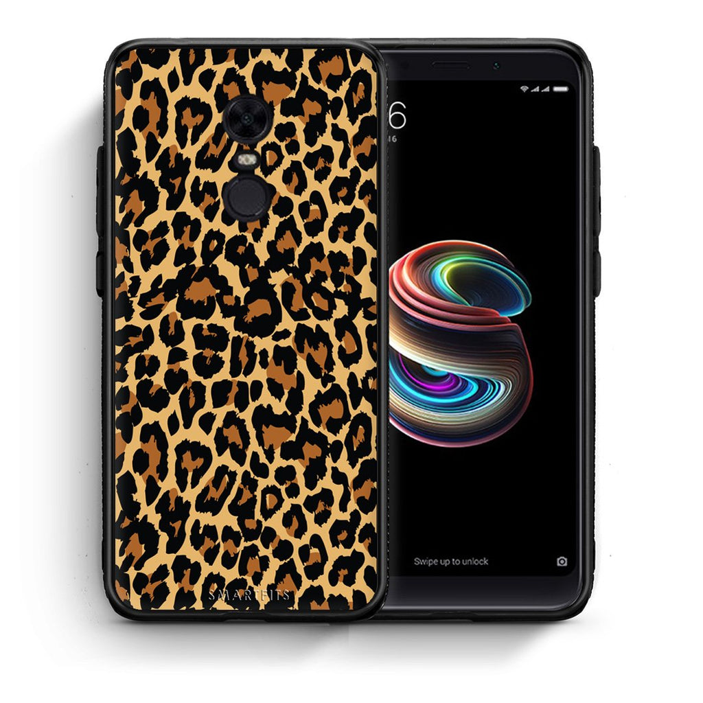 21 - Xiaomi Redmi 5 Plus  Leopard Animal case, cover, bumper