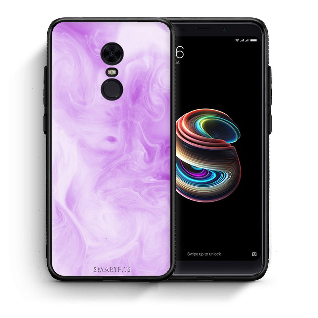 99 - Xiaomi Redmi 5 Plus  Watercolor Lavender case, cover, bumper