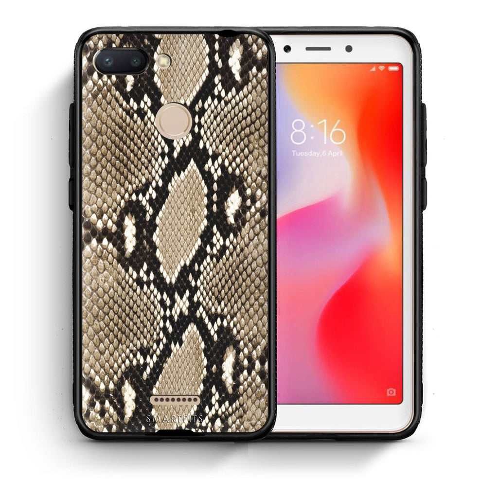 23 - Xiaomi Redmi 6  Fashion Snake Animal case, cover, bumper