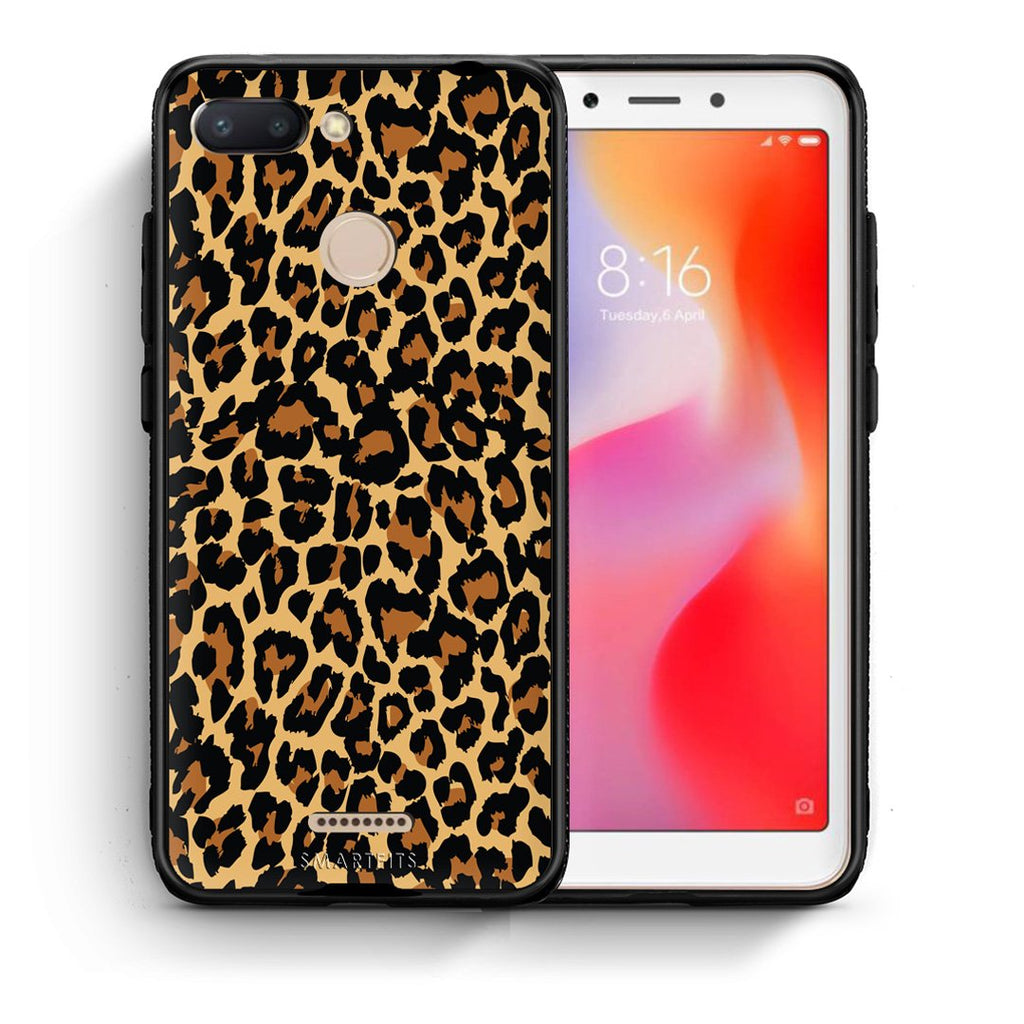 21 - Xiaomi Redmi 6  Leopard Animal case, cover, bumper