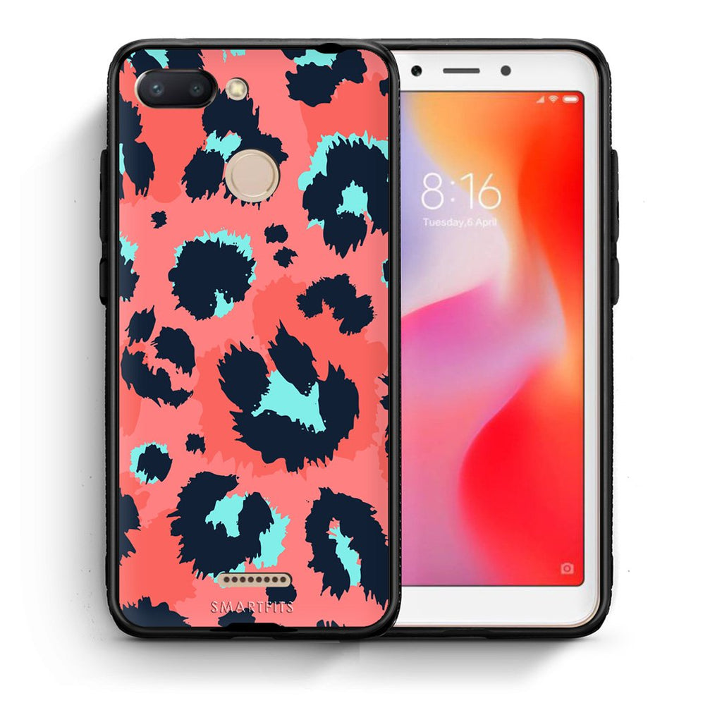 22 - Xiaomi Redmi 6  Pink Leopard Animal case, cover, bumper