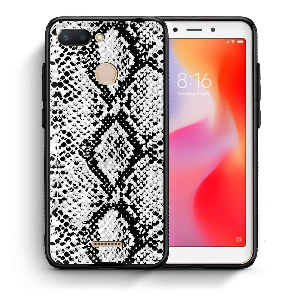 24 - Xiaomi Redmi 6  White Snake Animal case, cover, bumper
