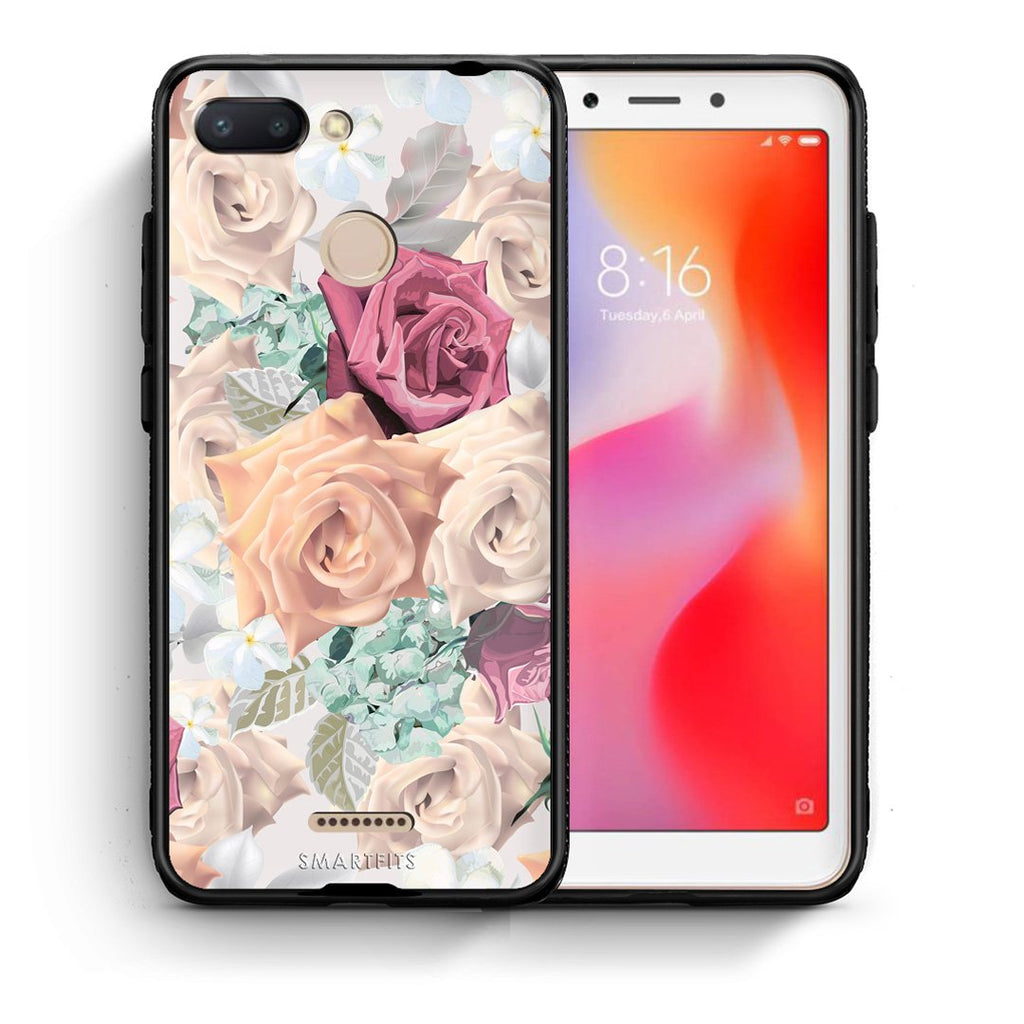 99 - Xiaomi Redmi 6  Bouquet Floral case, cover, bumper