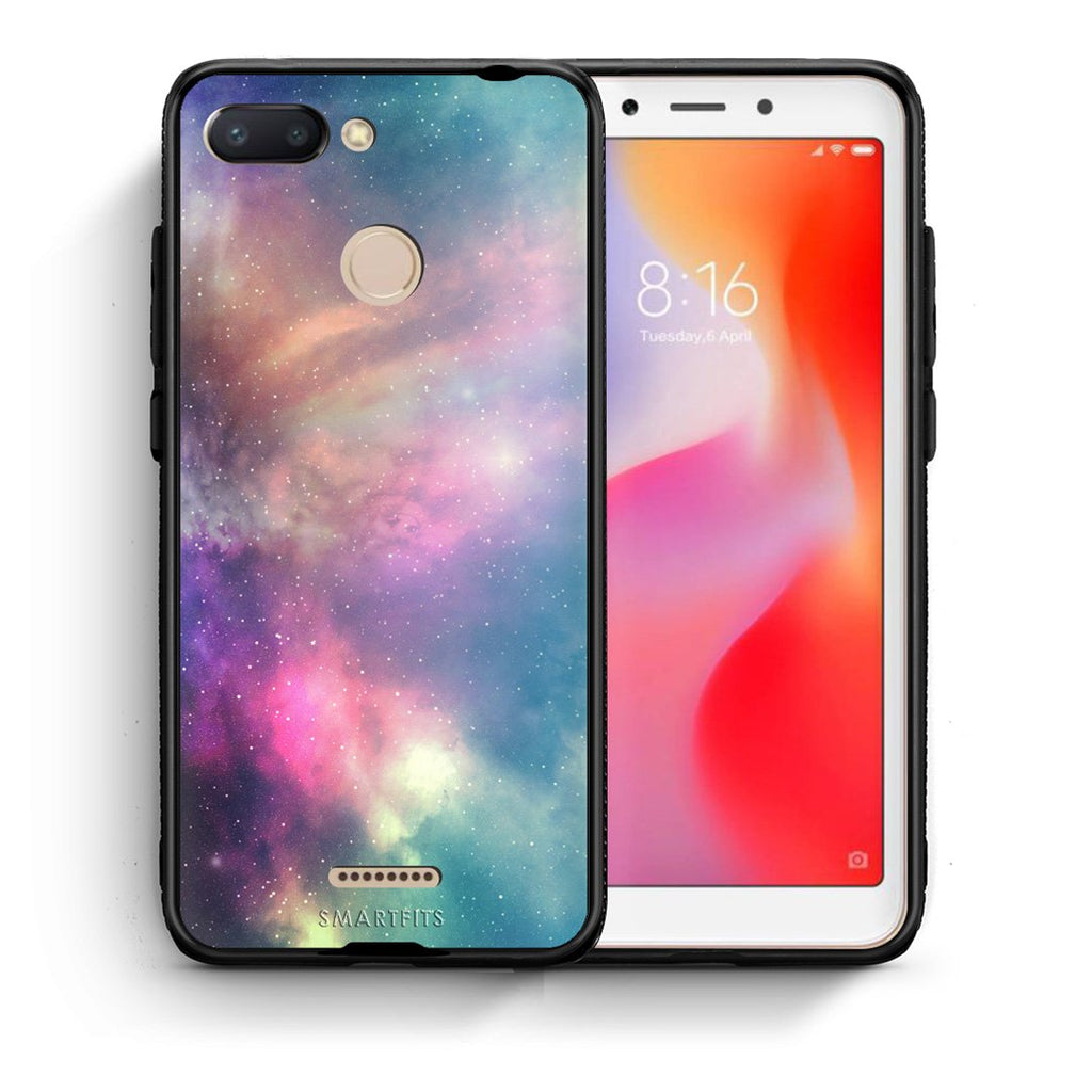 105 - Xiaomi Redmi 6  Rainbow Galaxy case, cover, bumper