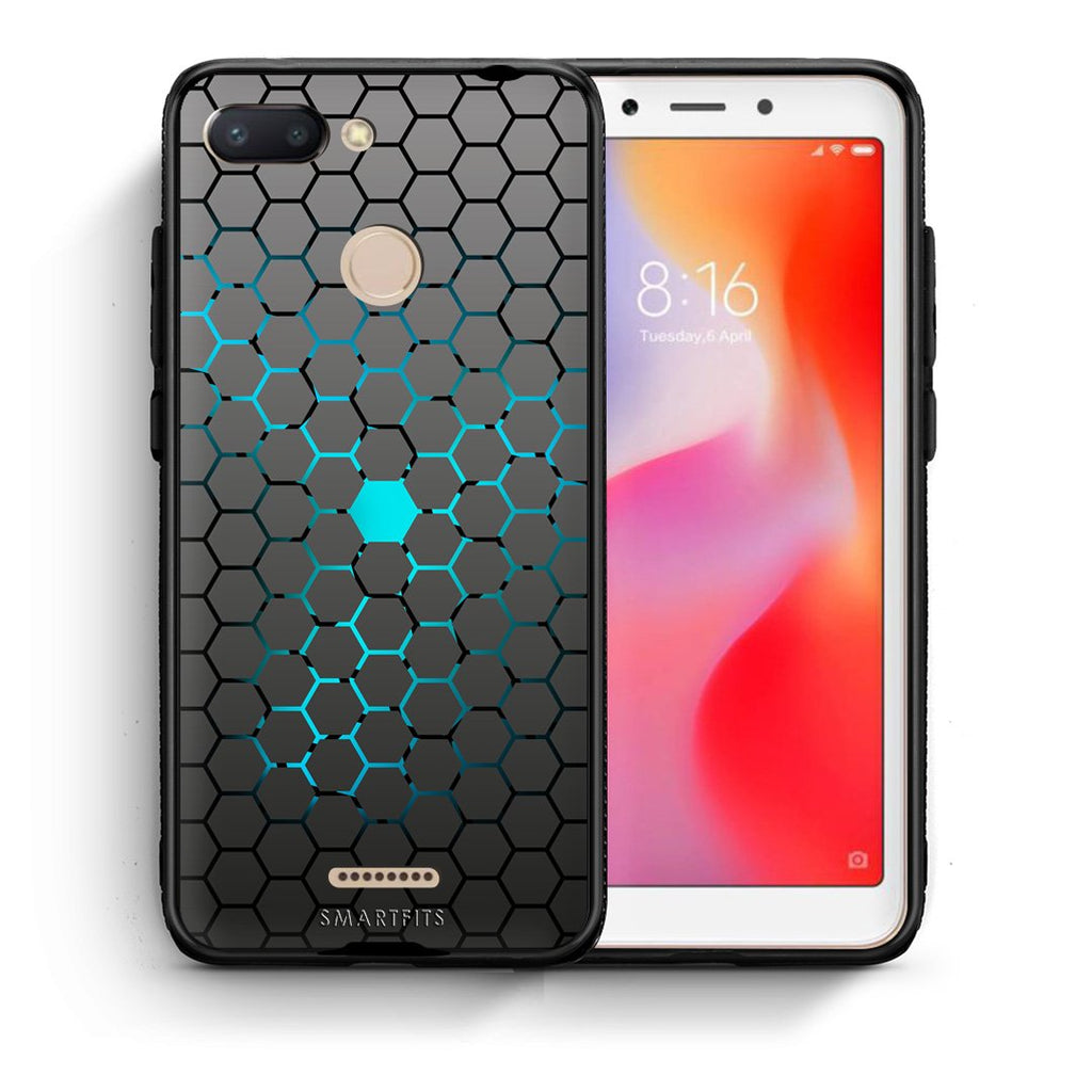 40 - Xiaomi Redmi 6  Hexagonal Geometric case, cover, bumper
