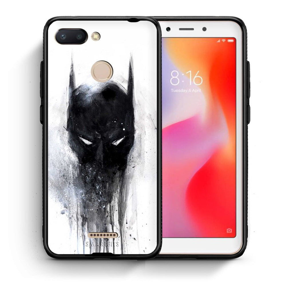 4 - Xiaomi Redmi 6 Paint Bat Hero case, cover, bumper