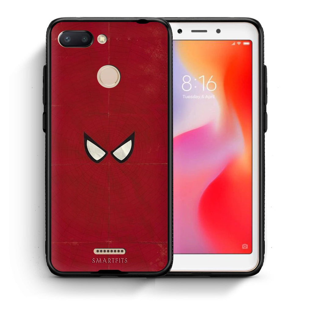 4 - Xiaomi Redmi 6 Spider Eyes Hero case, cover, bumper