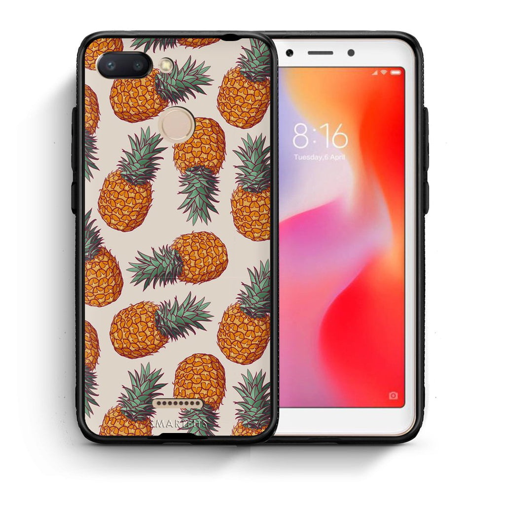99 - Xiaomi Redmi 6  Summer Real Pineapples case, cover, bumper