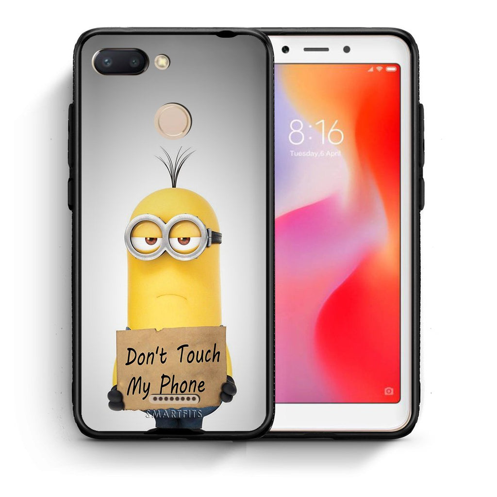 4 - Xiaomi Redmi 6 Minion Text case, cover, bumper