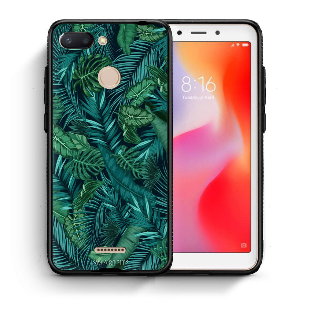 99 - Xiaomi Redmi 6  Tropic Leaves case, cover, bumper