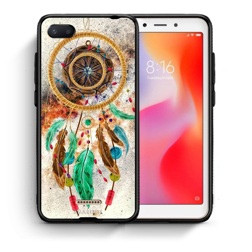 4 - Xiaomi Redmi 6A DreamCatcher Boho case, cover, bumper