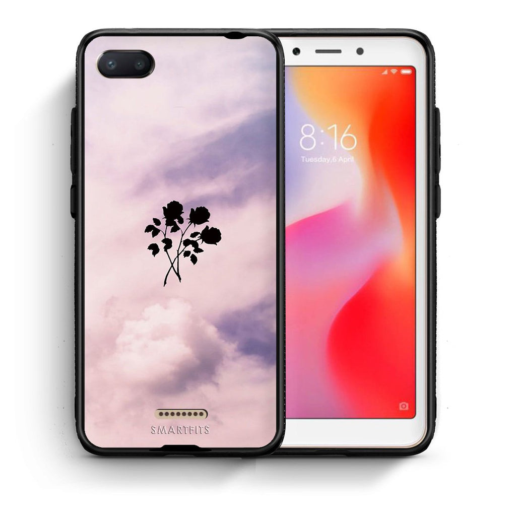 4 - Xiaomi Redmi 6A Sky Flower case, cover, bumper