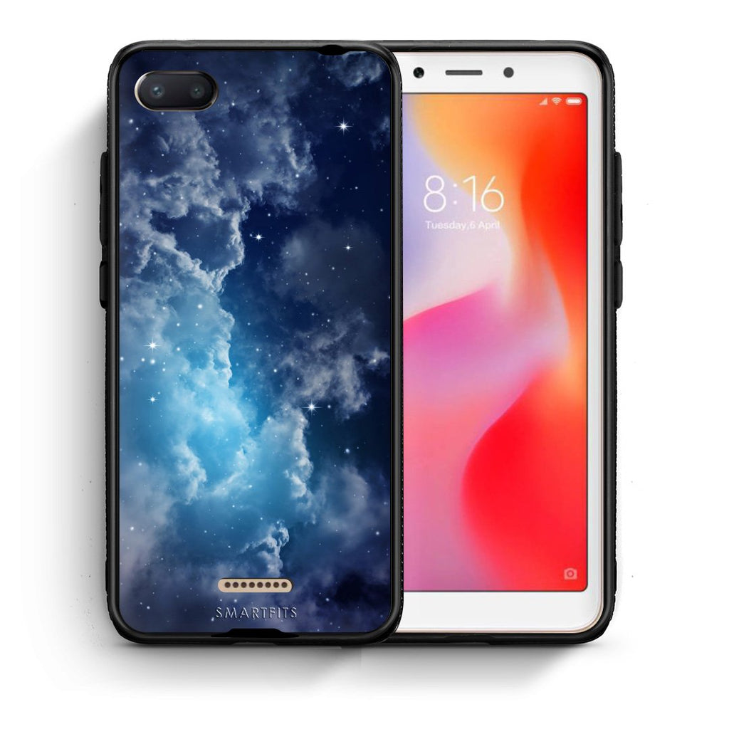 104 - Xiaomi Redmi 6A Blue Sky Galaxy case, cover, bumper