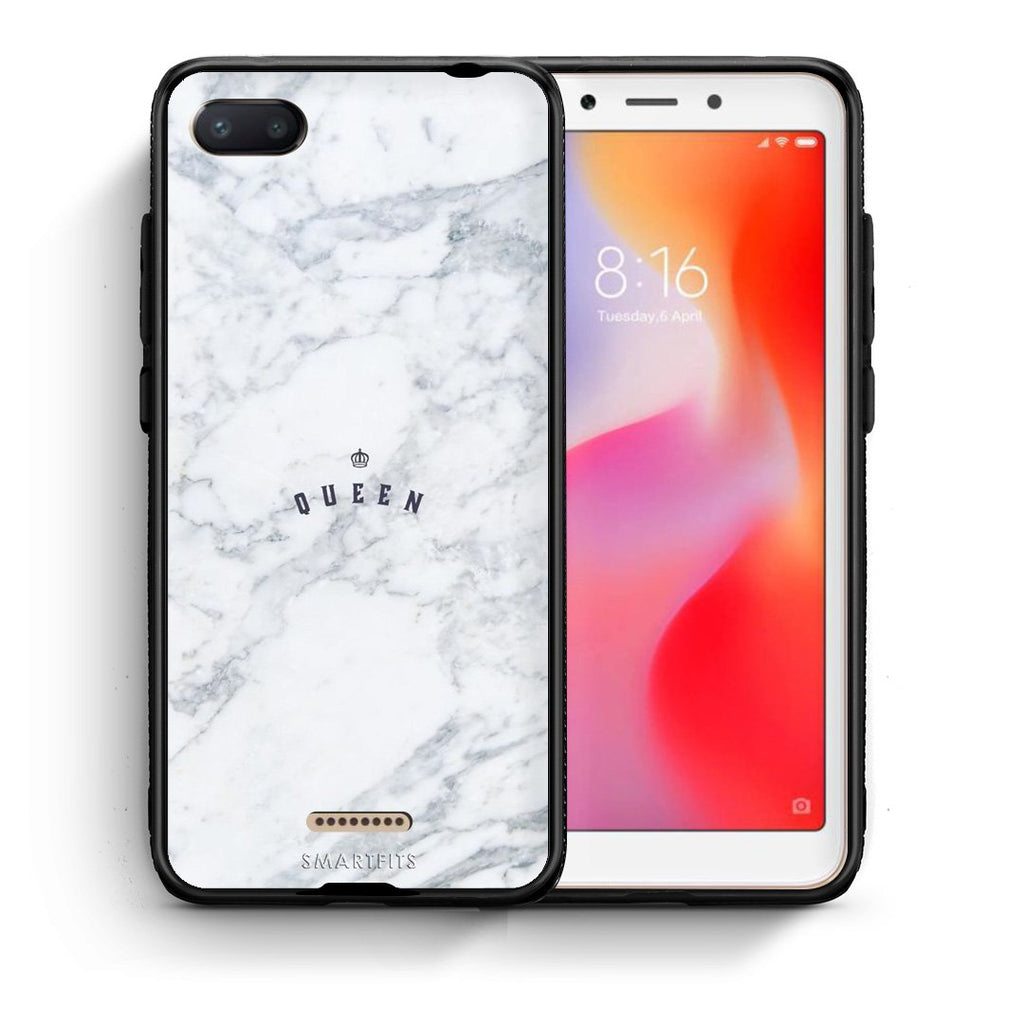 4 - Xiaomi Redmi 6A Queen Marble case, cover, bumper