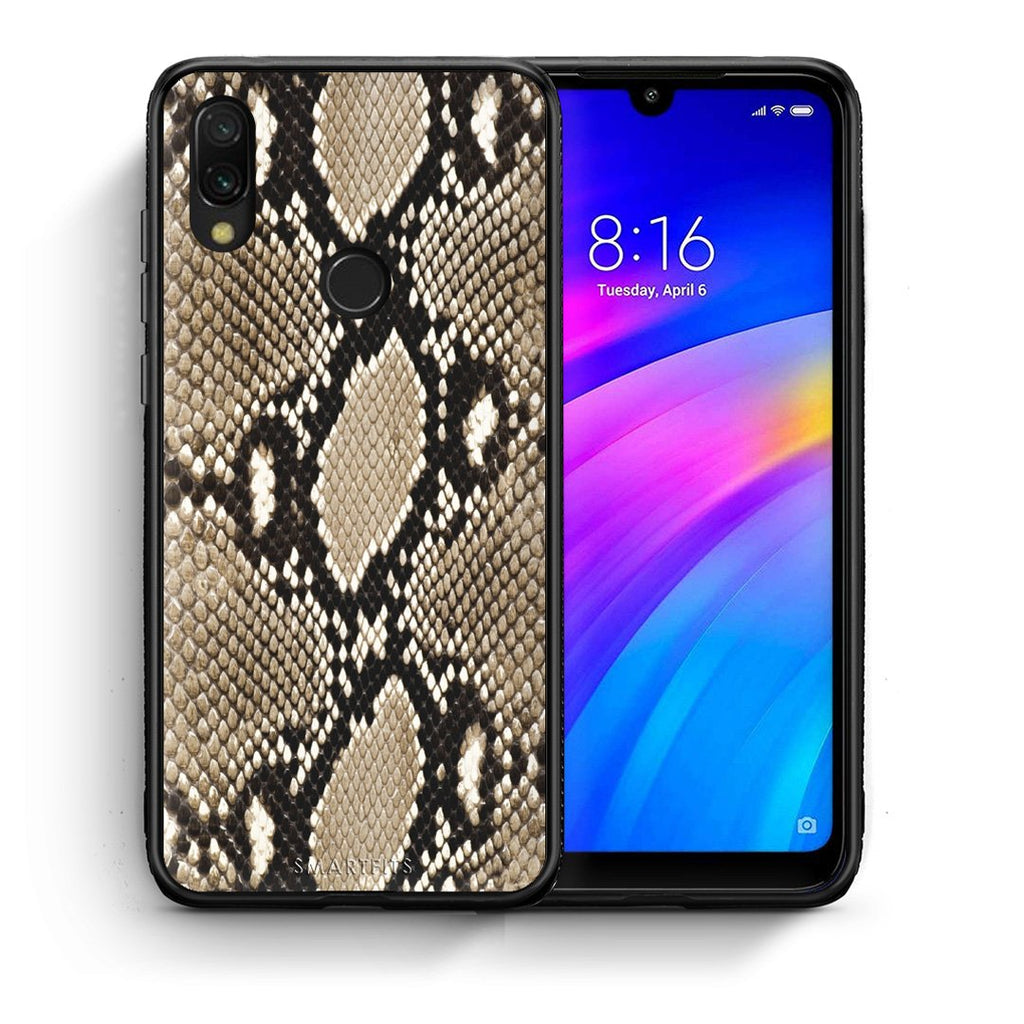 23 - Xiaomi Redmi 7 Fashion Snake Animal case, cover, bumper