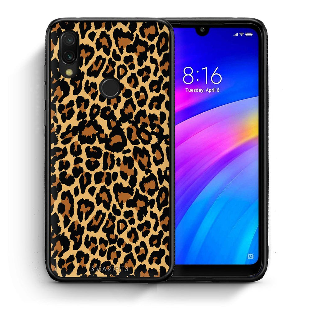 21 - Xiaomi Redmi 7 Leopard Animal case, cover, bumper