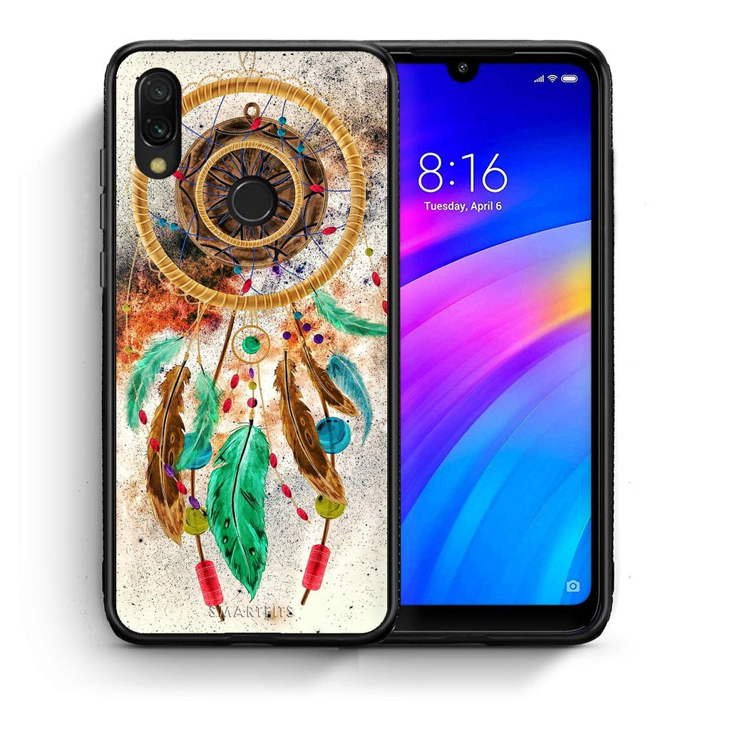 4 - Xiaomi Redmi 7 DreamCatcher Boho case, cover, bumper