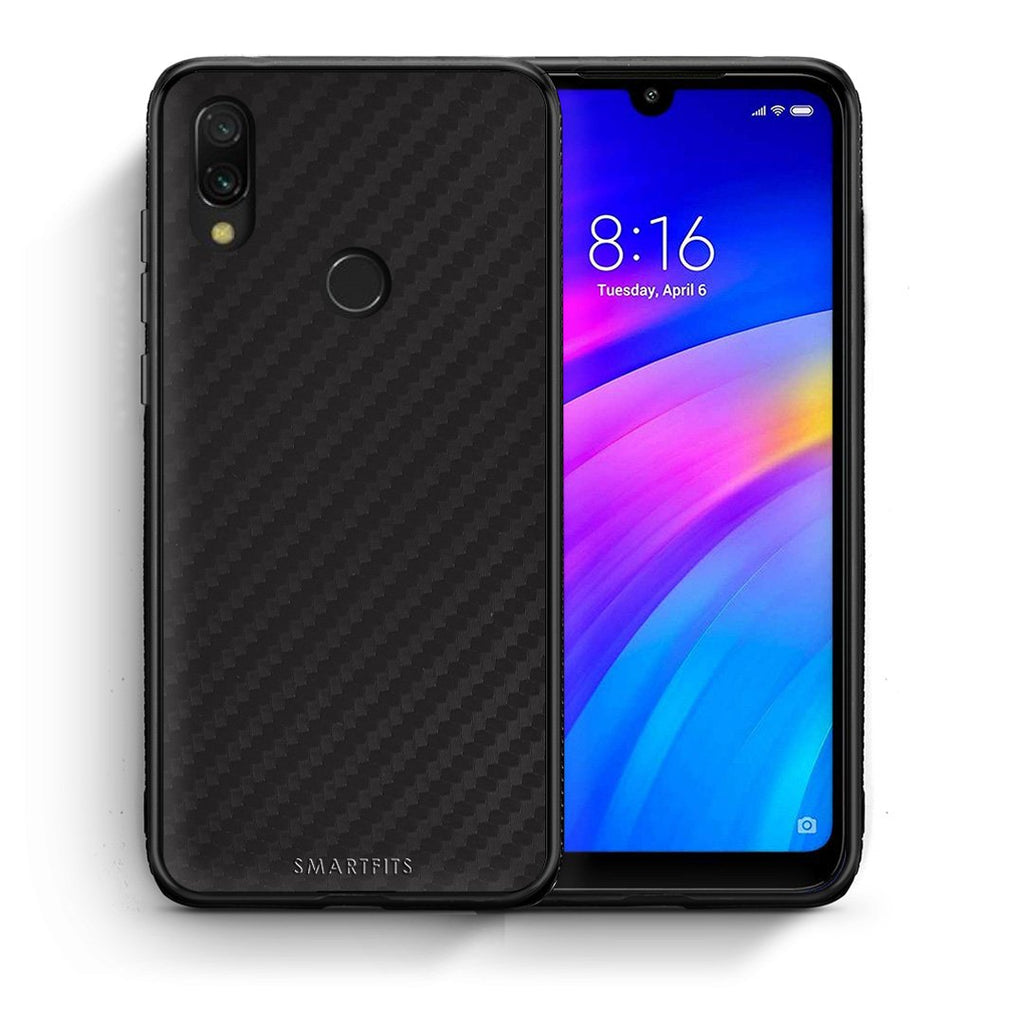 0 - Xiaomi Redmi 7 Black Carbon case, cover, bumper