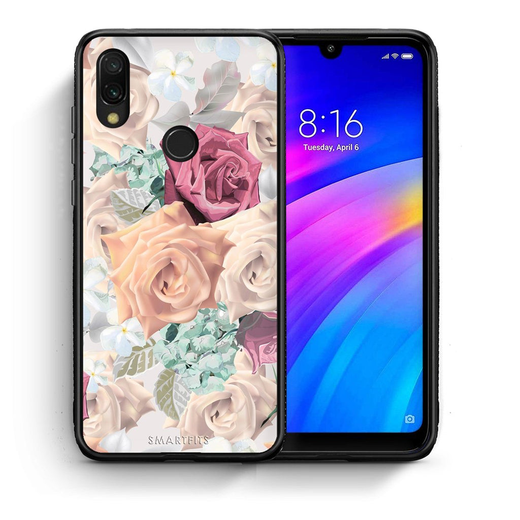 99 - Xiaomi Redmi 7 Bouquet Floral case, cover, bumper