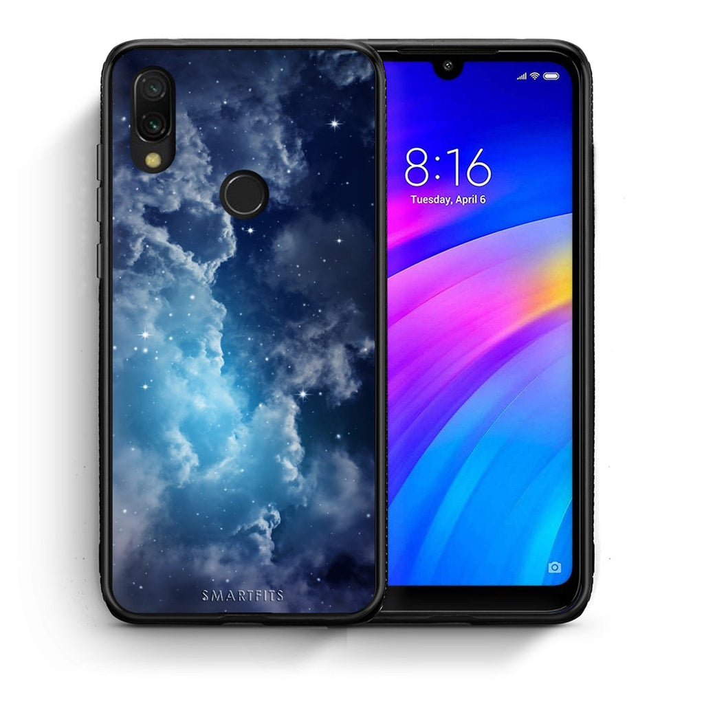 104 - Xiaomi Redmi 7 Blue Sky Galaxy case, cover, bumper