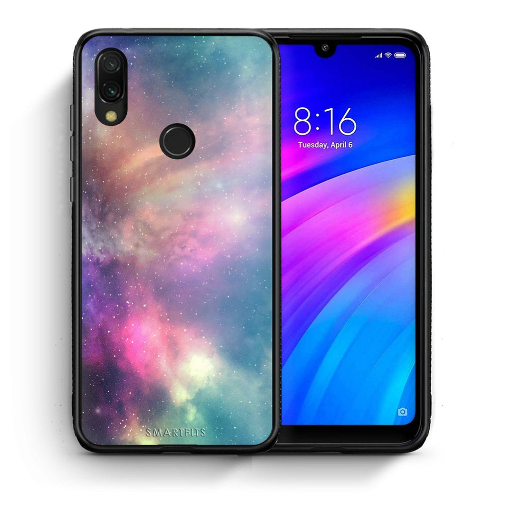 105 - Xiaomi Redmi 7 Rainbow Galaxy case, cover, bumper