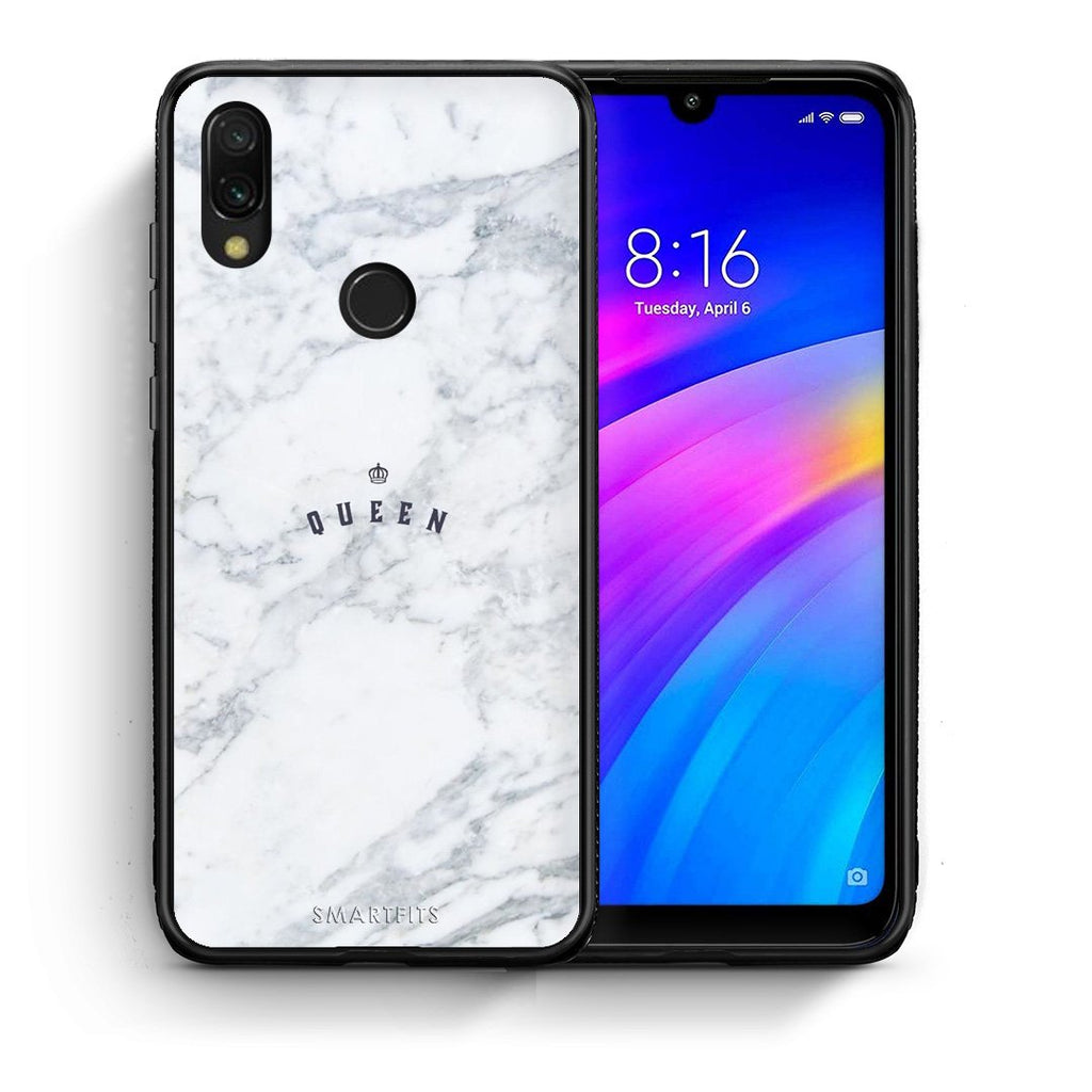 4 - Xiaomi Redmi 7 Queen Marble case, cover, bumper
