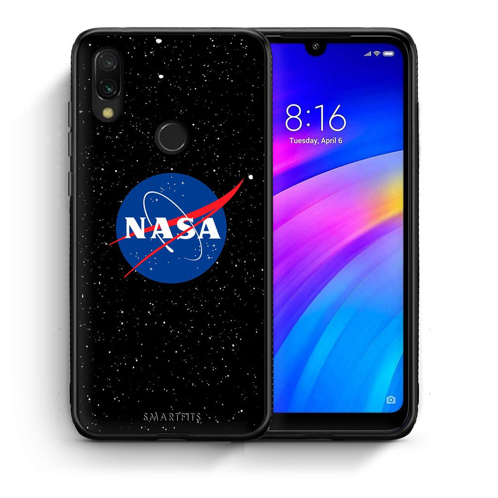 4 - Xiaomi Redmi 7 NASA PopArt case, cover, bumper