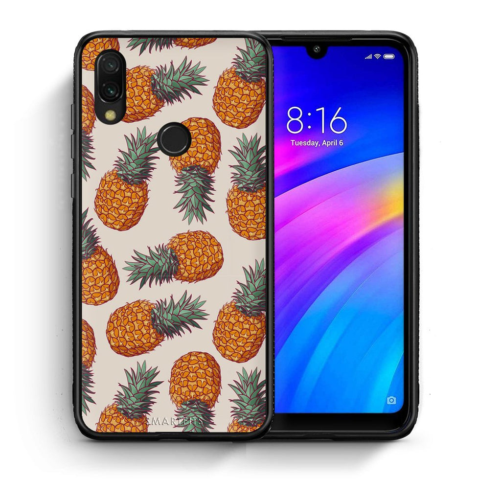 99 - Xiaomi Redmi 7 Summer Real Pineapples case, cover, bumper