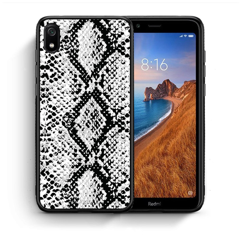 24 - Xiaomi Redmi 7A White Snake Animal case, cover, bumper