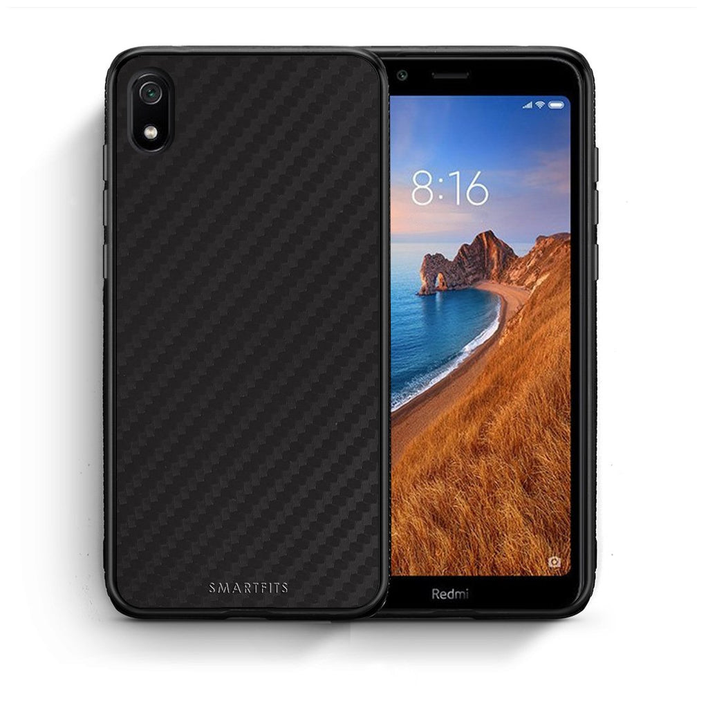 0 - Xiaomi Redmi 7A Black Carbon case, cover, bumper