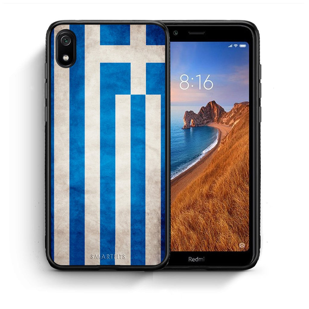 4 - Xiaomi Redmi 7A Greece Flag case, cover, bumper