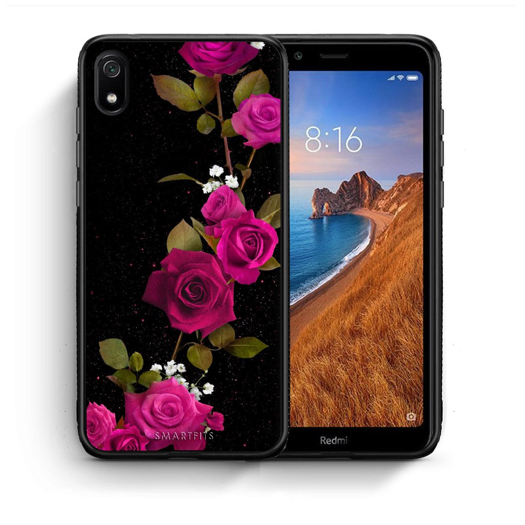 4 - Xiaomi Redmi 7A Red Roses Flower case, cover, bumper