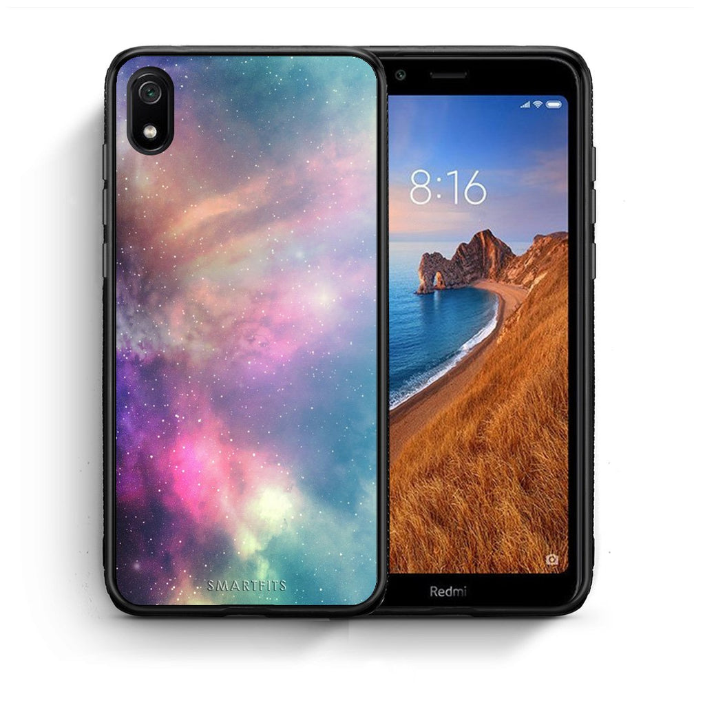 105 - Xiaomi Redmi 7A Rainbow Galaxy case, cover, bumper