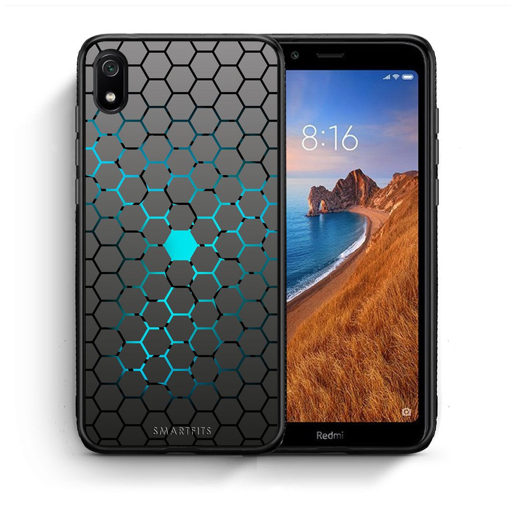 40 - Xiaomi Redmi 7A Hexagonal Geometric case, cover, bumper