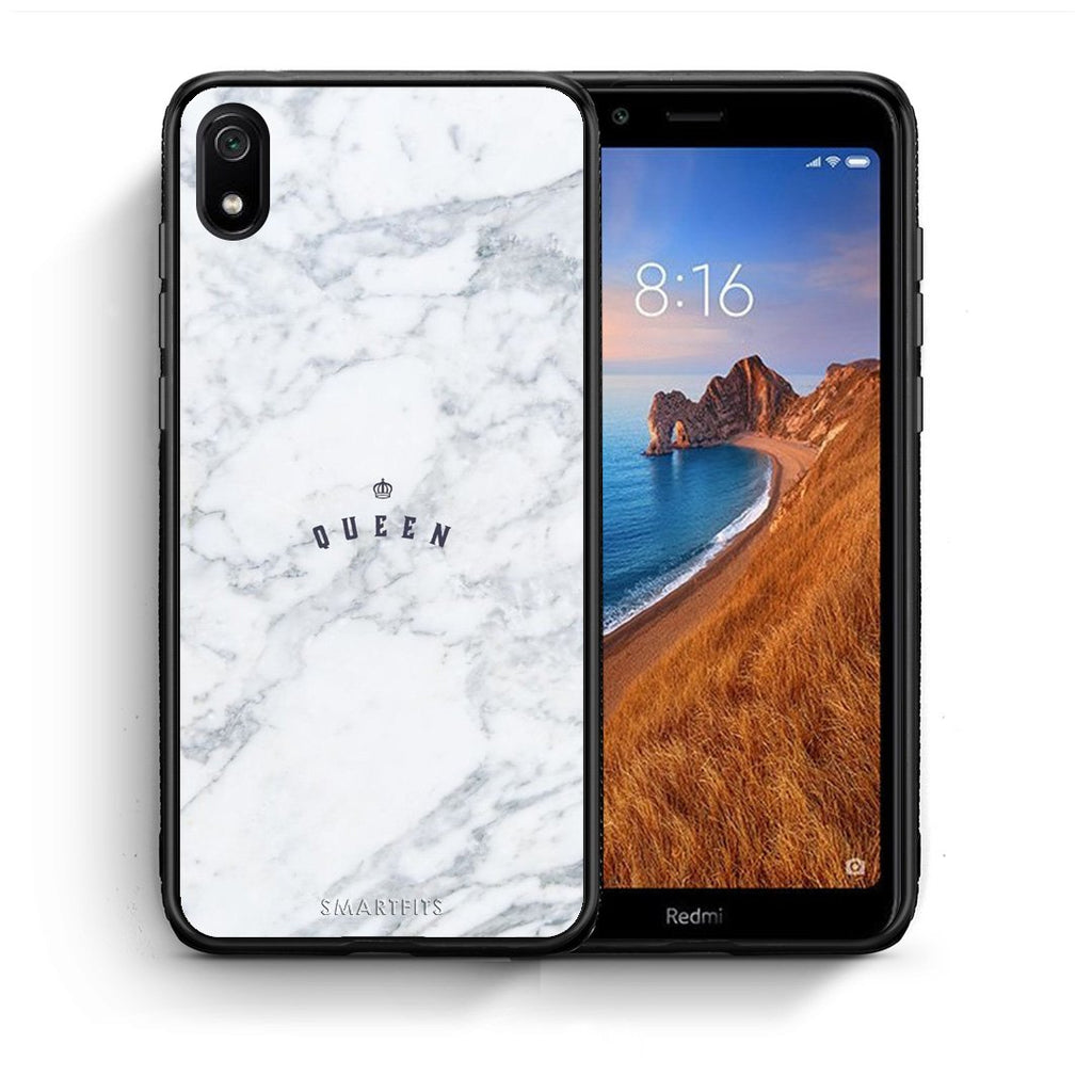 4 - Xiaomi Redmi 7A Queen Marble case, cover, bumper